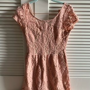 American Eagle pink lace dress